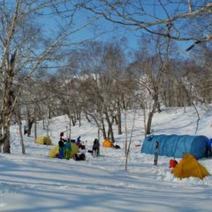 Base camp in Ganalskiy range