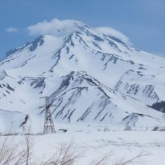 Even in June, volcanoes are still completely covered with snow, and skiing is full on!