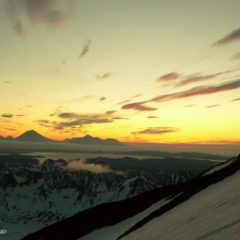 Sunrise on the slopes of Viluchinskiy volcano.