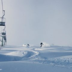 Are there else such places, where you can ride light and deep pow just few meters from the ski lift?