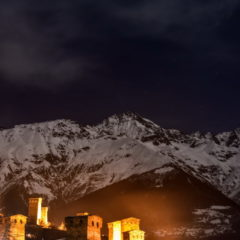 Mestia, the capital of Upper Svaneti.